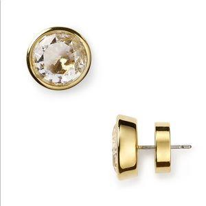 Michael Kors stud earrings gold / clear crystal